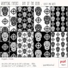 m m wrapping paper wrapping paper dia de los muertos day of the dead black