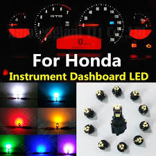 honda crv 2009 warning lights on dashboard 10pcs white red green blue dash t5 led socket instrument panel light