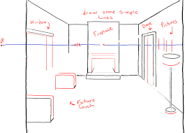 draw a room how to draw a room with perspective drawing tutorial of a living