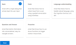 create a bot with the azure bot service bot framework