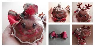 glitter gingerbread ornaments clear plastic ornament makeover