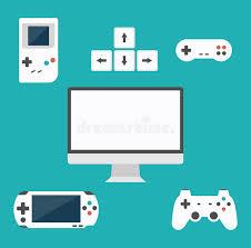 design games to download flat design computer games concept game development various