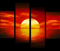 Artwork For Home Decor Sunset Painting Canvas Prints Contemporary Art Modern Wall Art