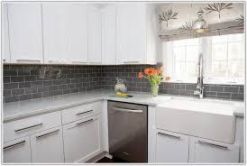Grey Subway Tile Backsplash Subway Tile Backsplash With Cabinets - Gray subway tile backsplash