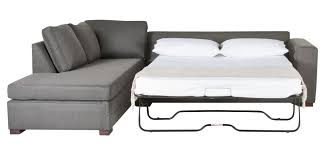 Small Space Sleeper Sofa L Shaped Gray Fabric Sleeper Sofa Plus Cushions Connected With