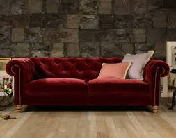 canapé chesterfield velours canapé chesterfield coniston en tissu velours longfield 1880