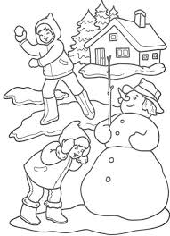 download winter themed coloring pages