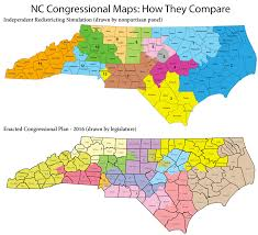 North Carolina State Map by Nonpartisan Redistricting Panel Reveals Unofficial Nc