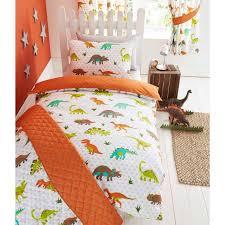 dinosaur design single duvet cover sets boys bedding bedroom ebay