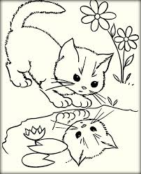 realistic kitten coloring pages color zini