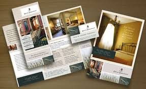 hotel brochure design inspiration bed and breakfast motel tri fold