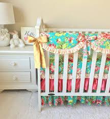 floral baby bedding crib carousel designs images on stunning boho