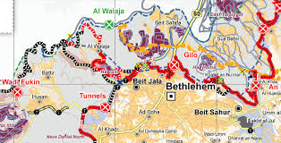 Map Of Al Palestine Village Of Al Walajah A Prison To Be The