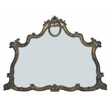 majestic mirrors crowned rectangular ornamental mirror bronze cm