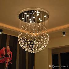 Chandelier Led Lights New Modern Led K9 Ball Crystal Chandeliers Foyer Crystal