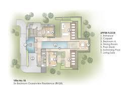 Six Bedroom Floor Plans Room Archive Trisara Phuket Thailand