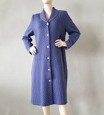 robe de chambre femme robe de chambre boutonnée femme 3 bleu sipp