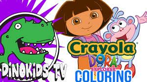 dora coloring book pages dora the explorer crayola coloring book boots dino kids tv
