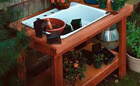 Outdoor Potting Bench With Sink 65 Diy Potting Bench Plans Completely Free
