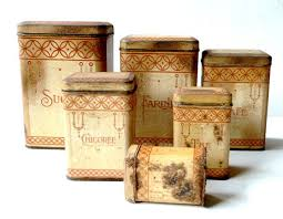 antique kitchen canister sets antique french kitchen canisters set 1910s by cabartvintage