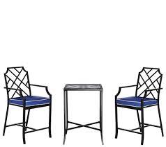 Bistro Patio Chairs by Scott Living 3 Piece High Top Bistro Patio Set Page 1 U2014 Qvc Com
