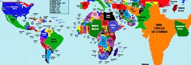 Us World Map by The World Map According To Population Size U2013 Science Vibe