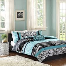 Green And Gray Comforter Bedroom Minimalist Bed Blue Bedding Teal Gray And White Bedding