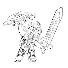 lego nexo knights ridder clay coloring pages for kids