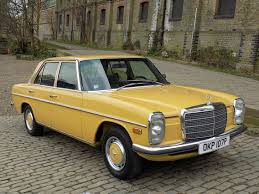 mercedes benz museum interior classic chrome mercedes benz 200d w115 1975 p yellow