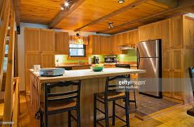 cottage style kitchen island wooden kitchen island with ceramic counter in canadian cottage