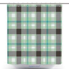us 29 86 waterproof shower curtain abstract geometric tartan