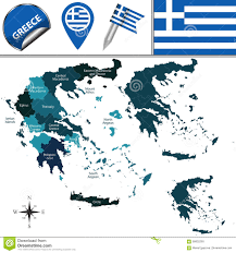 Map Greece by Map Of Greece With Named Regions Stock Vector Image 68832260