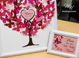 baby shower guest book ideas baby shower guest book tree with 3d butterflies guest book