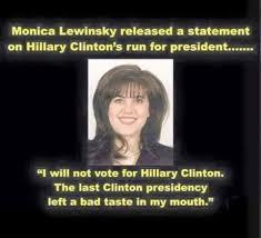 Monica Lewinsky Meme - monica lewinsky chimes in on the clinton caign funny
