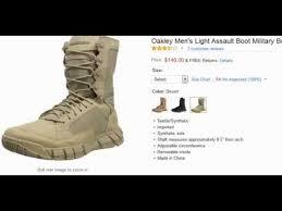 oakley light assault boot oakley men s light assault boot military boot youtube