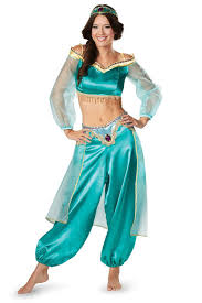 Princess Jasmine Halloween Costume Women Disney Princess Jasmine Costume Aladdin Movie Licensed