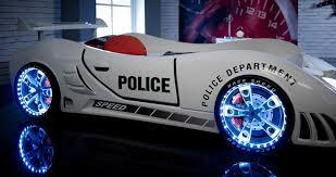 Kid Car Bed Police 3ft Super Car Bed Led Lights Sound White Childrens