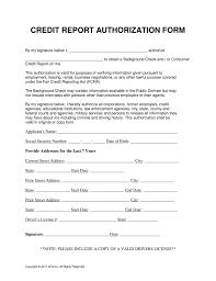 Credit Report Authorization Form Template free credit report authorization form word pdf eforms free