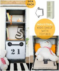 Bed Shelf Ikea Hack Industrial Kids Shelf With Toy Bed U2022 Grillo Designs