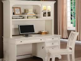 Desk Hutch Ideas Small White Writing Desk With Hutch And Armless Chair Decofurnish