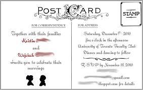 postcard wedding invitations postcard invitation template diabetesmang info