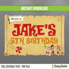 jake and the neverland birthday disney jake and the neverland birthday welcome sign