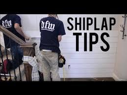 Installing Shiplap How To Install Shiplap Youtube