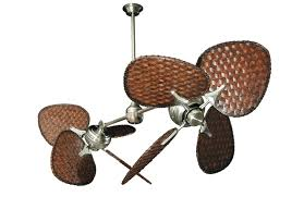 twin star ii ceiling fan tropical ceiling fans pertaining to twin star ii brushed steel dual