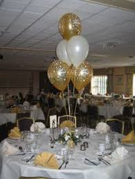 50th birthday flowers and balloons black and gold balloon centerpieces for a 50th birthday or