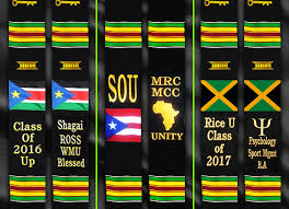 personalized graduation stoles personalized kente stole with or caribbean flags