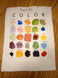 miss arty pants color mixing bingo
