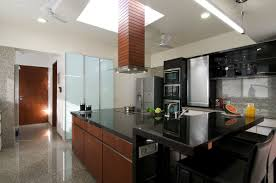 Indian Semi Open Kitchen Designs Minimalist Bungalow In India Idesignarch Interior Design