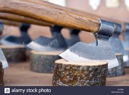 miniature axe cutting tree stump crafted ornaments for sale
