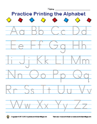 letters to print and trace worksheet school alphabet